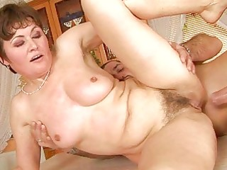grandma enjoys hard sex with lover