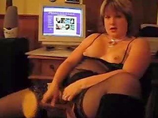 home movie - mature angel in darksome lingerie