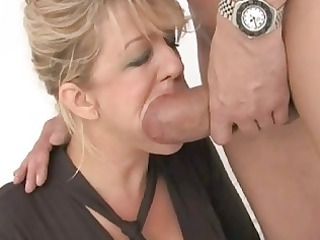 admirable looking busty wife got double screwed