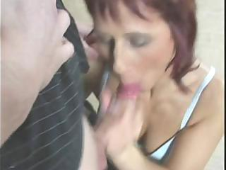redhead mamma acquires fingered, eats jock and