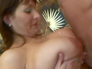 overweight milf hardcore with cumshot on her