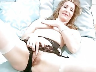 lewd older in underware finger masturbation
