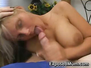 sexy mum with massive juggs sucks unyielding