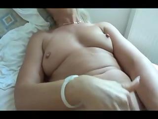 My wife masturbating for me
