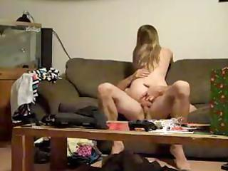 youthful blond wife receives hammered on the