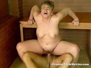 immodest granny public pounding