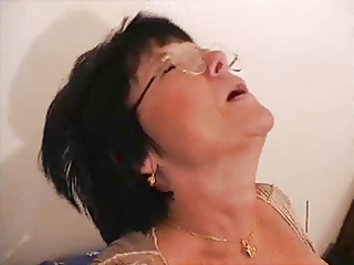 french old mamma - cum on glasses