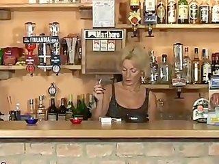 older barmaid smokin fetish