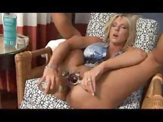 breasty blond mother i uses a massive sex tool on