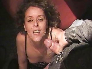 hawt wife sucks off 65 studs at the swingers club