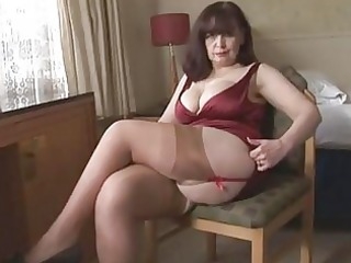 big bumpers older panty play and striptease