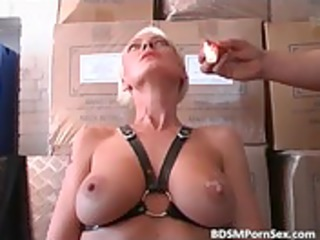 blond milf with giant bra buddies is dominated