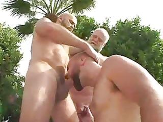 mature chaps fucking outdoors.