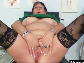 aged big beautiful woman wife is fingering her
