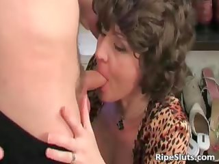 horny breasty aged wench gets moist wet crack