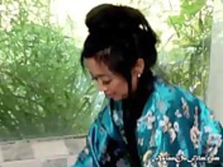 oriental mother i pleasures herself in bubble