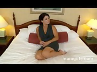 brunette hair milf does her st adult video