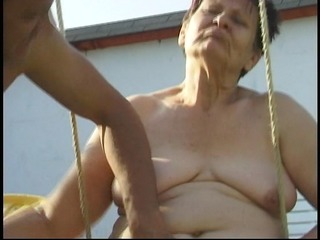 Grandmother Gets Cum On Her Face