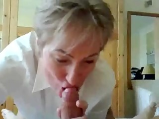 aged teacher giving fellatio and squirting