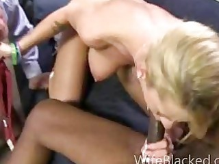 Cuckold wife prefers black dick while shamed
