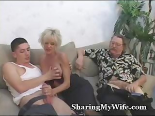 busty aged golden-haired receives a youthful wang