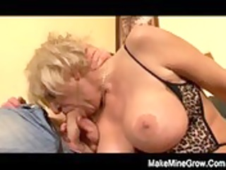 sexy grandma play with her toy and a juvenile dong