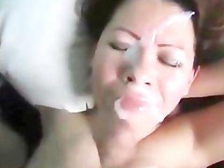 wife receives a precious facial