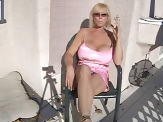 hawt breasty granny smokin and relaxing