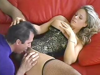 cute breasty blond milf trades blowjob sex and