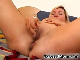 juggs mother on a horny fake penis
