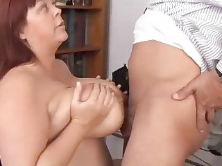 large whoppers older bbw likes to engulf pecker