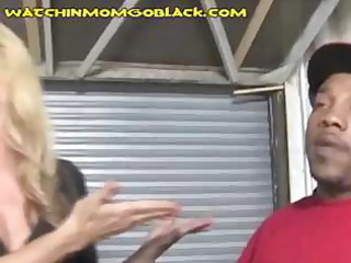 breasty blond milf works out a deal to save her