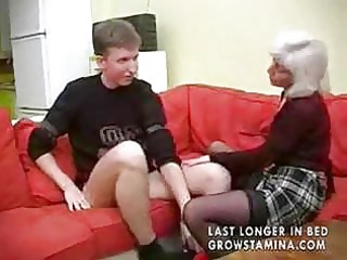 granny with saggy tits gets drilled part0