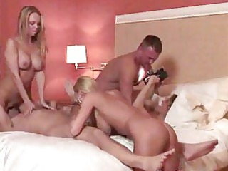 hot golden-haired milfs swinger orgy