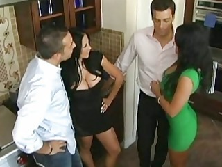 husbands exchange wives in advance of dinner
