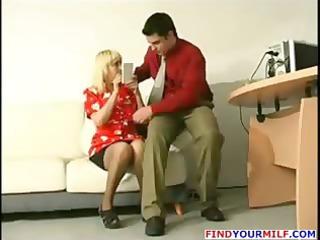 youthful boss tempt older secretary