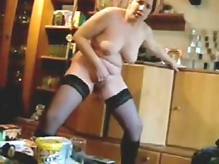 lascivious wife masturbate standing in front of