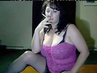Busty Mommy Tells You To Cum While She Smokes By