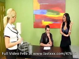 busty dark brown mother i in the office acquires