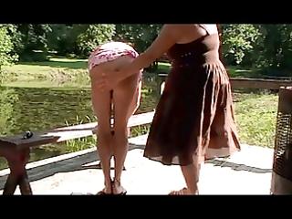mama spanks sissy at the lake