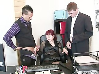 aged office wench enjoys dicks