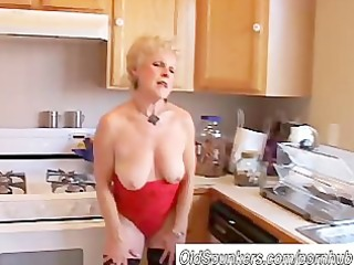 very sexy grandma has a soaking wet wet crack