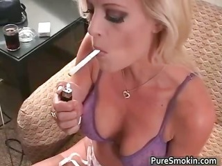 brooke smokes and rubs her cum-hole part6