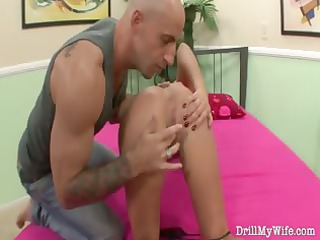 nasty wife does a stranger and she is loves it is