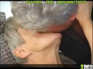 fat grey-haired granny acquires screwed wearing