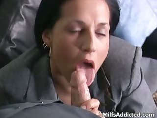 slutty brunette milf secretary acquires wet part8