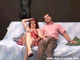 redhead italian mother i with big, saggy breasts