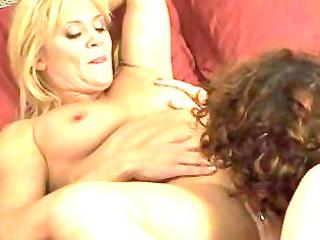 lesbo mommas have gal on angel in bedroom
