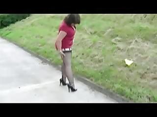 older walking in high heels