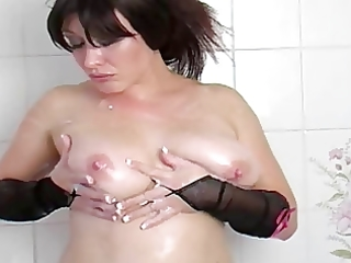 breasty milf: in the baths